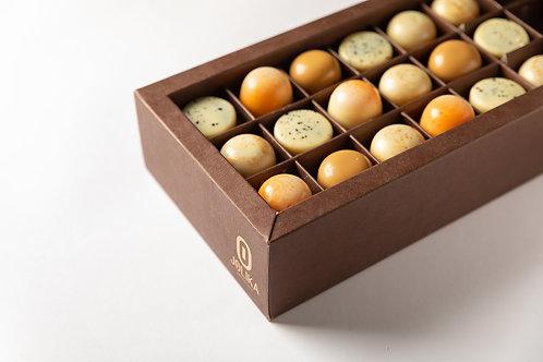 שוקולד במילוי גנאש גבינות - 15 פרלינים
