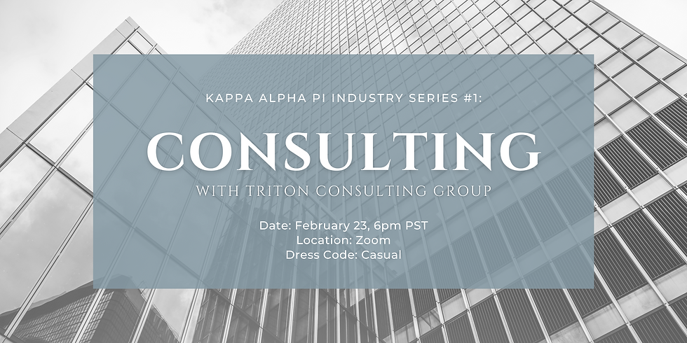 Industry Series #1: Consulting