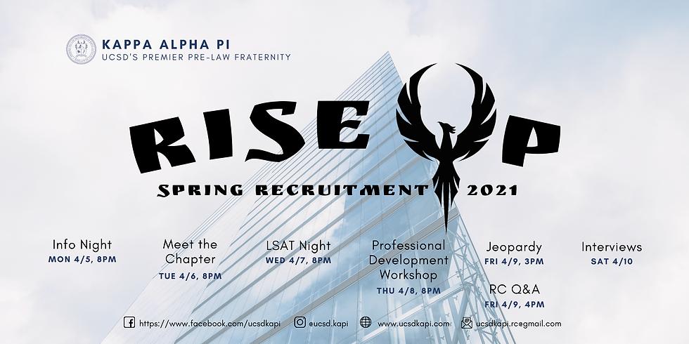 Spring Recruitment 2021