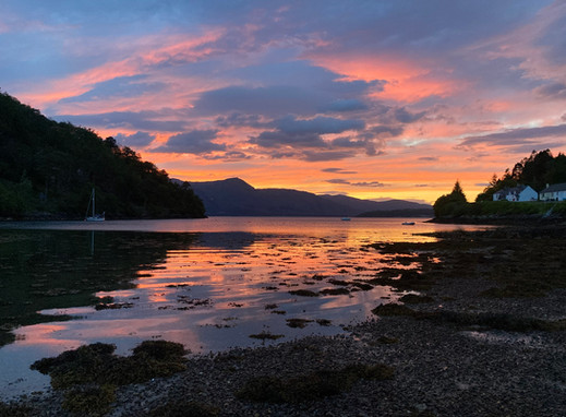 Sunset in Kentallen Bay