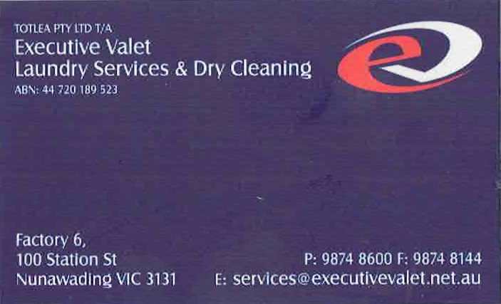 Executive Valet Laundry Services