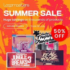 Save 50% in Loopmasters' Summer Sale!