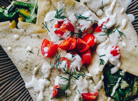 Gluten-Free Savory Garden Crepes | RECIPE