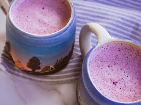 Dreamy Dragon Fruit (Pitaya) Latte | RECIPE