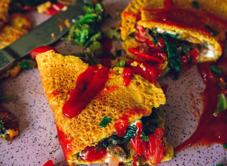 The Best Chickpea Omelet | FORKPRINT RECIPES