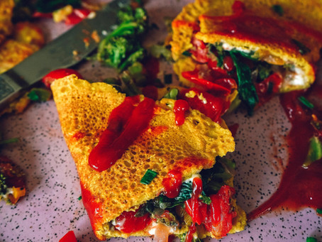The Best Chickpea Omelet   FORKPRINT RECIPES