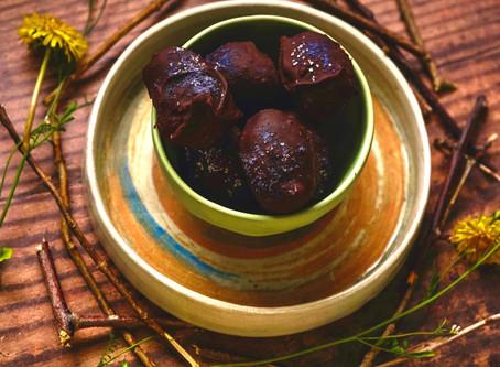 Robin Eggs - Vegan Chocolate Covered Cookie Dough Nougat   RECIPE