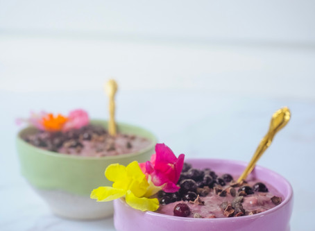 Chocolate Berry Smoothie Oats | RECIPE