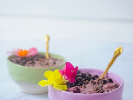 Chocolate Berry Smoothie Oats   RECIPE