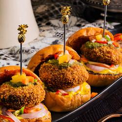 Masala Chapli Kebab Sliders