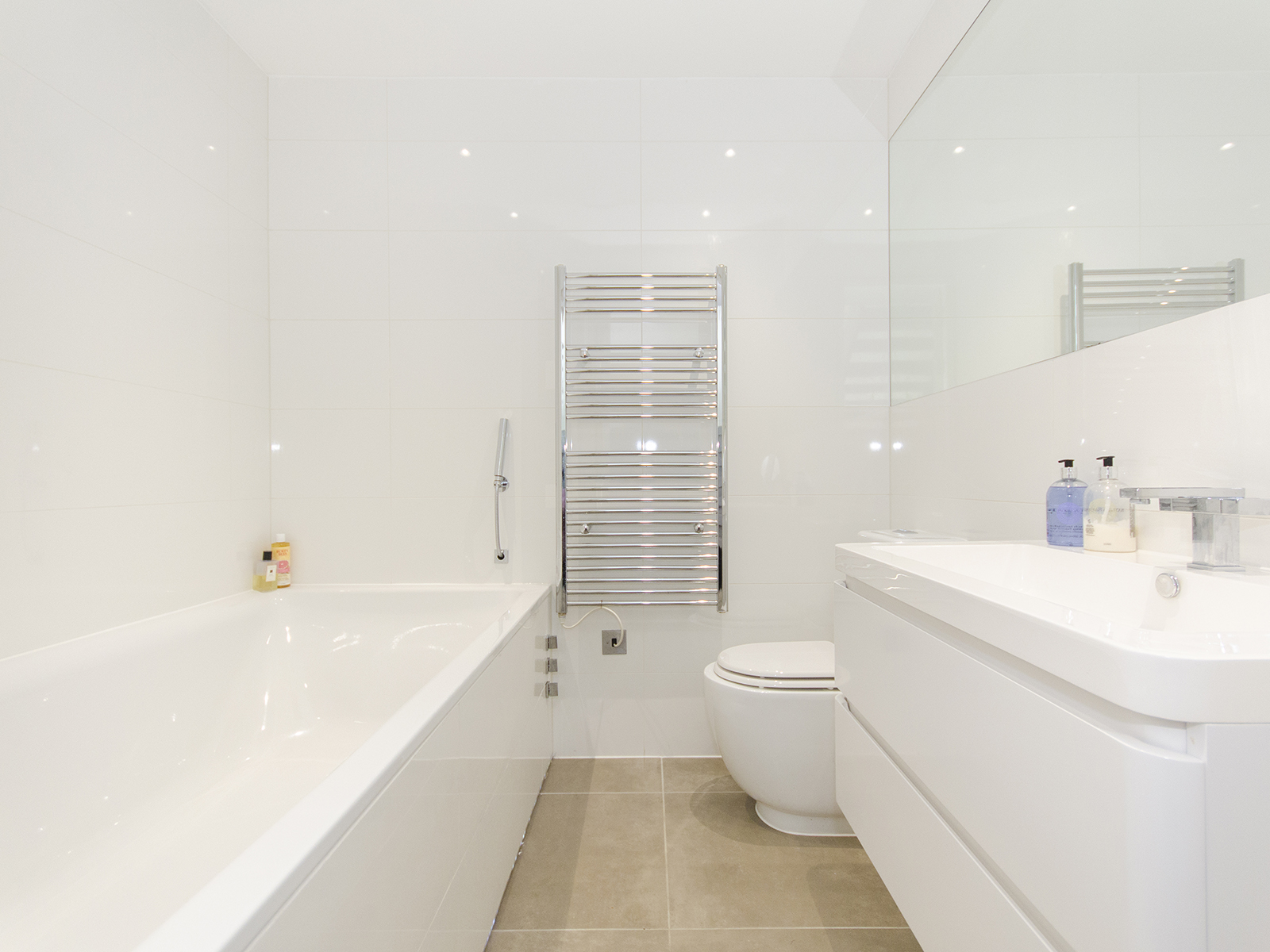 Simple modern bathroom Muswell Hill