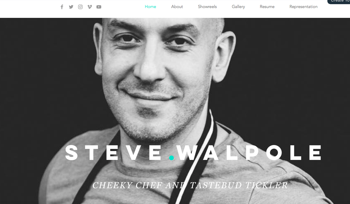 Steve Walpole Homepage Cherry Sites