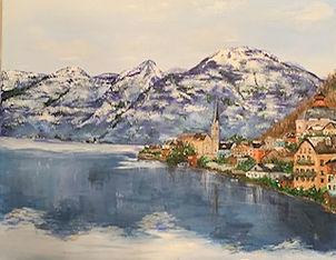 """Mountain Village, 16""""x20"""""""