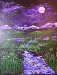 "Purple Night, 11""x14"""