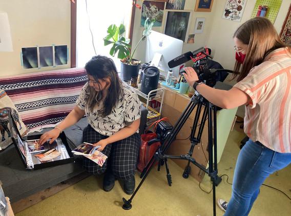 Mirella Martinez Studio Visit Video Shoot