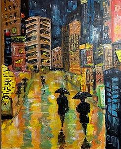 """Rainy City, 16""""x20"""""""