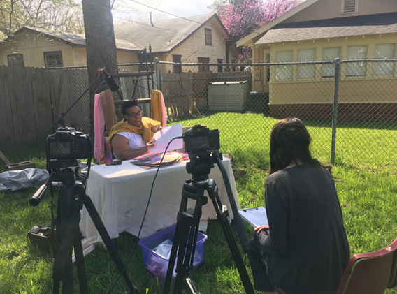 Naima Lowe Studio Visit Video Shoot