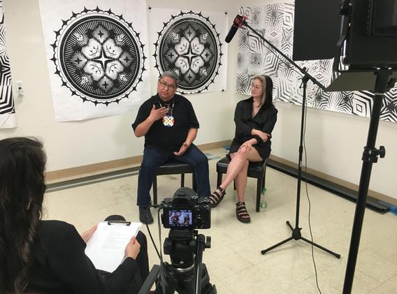 Maggie Boyett & Marwin Begaye Studio Visit Video Shoot