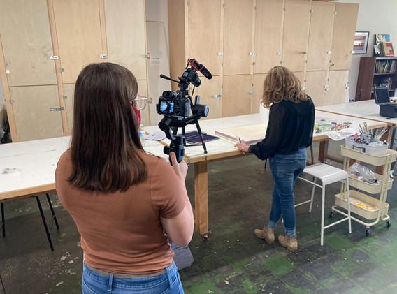 Ginnie Baer Studio Visit Video Shoot