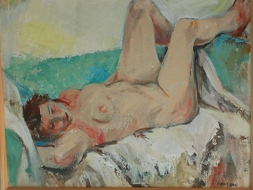 "Sniderman, Sonia. ""Reclining Figure"""