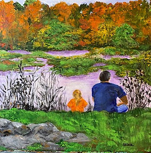 """Dad and Me, 16""""x16"""""""