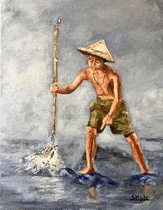 """Fishing, 11""""x14"""""""