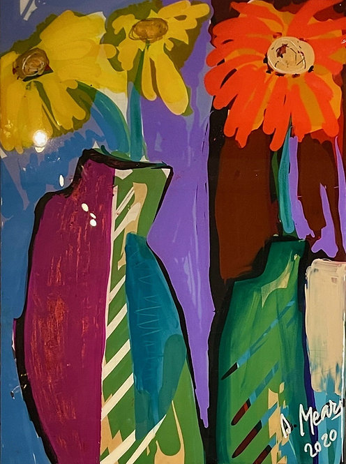 """Mears, Suzanne Wallace. """"Two Vases"""""""