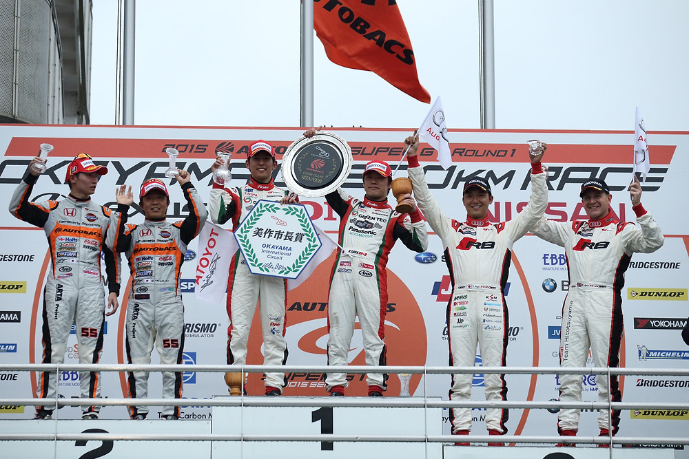 On the podium from the start!