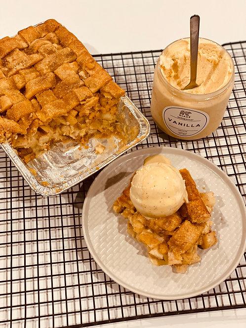Apple Pie w/ Vanilla Custard & Ice Cream