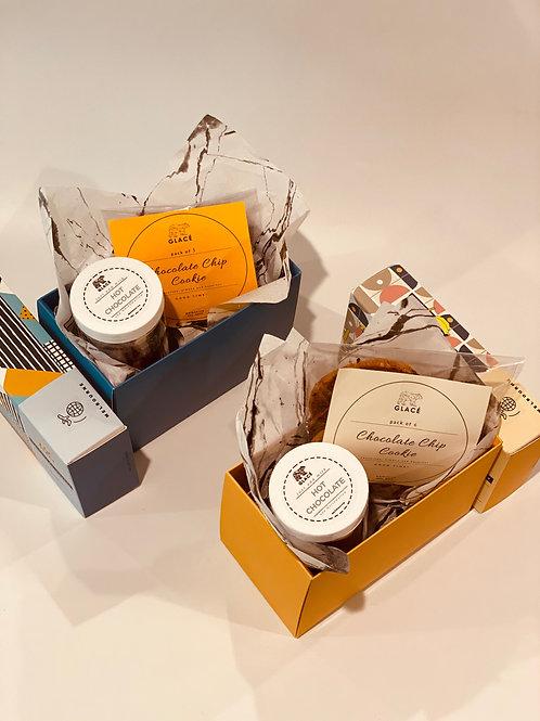 Gift Pack: Hot Chocolate Mix and Dark Chocolate Chip Cookies