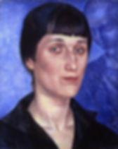 Kuzma_Petrov-Vodkin._Portrait_of_Anna_Ak