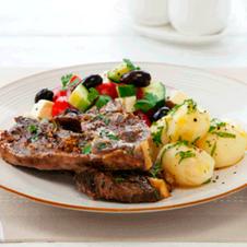 Countdown: Lamb Shoulder Chops, Minted New Season Potatoes and a Greek Salad