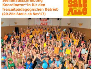 Koordinator*in für den freizeitpädagogischen Betrieb gesucht! (20-25h-Stelle ab Nov'17)