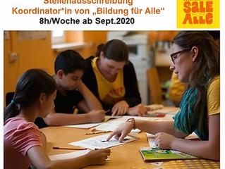 """Koordinator*in für """"Bildung für Alle"""" gesucht! (8h-Stelle ab Sept'20)"""