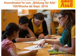 """Koordinator*in für """"Bildung für Alle"""" gesucht! (10h-Stelle ab Sept'16)"""