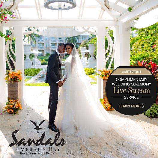 Wedding Sandals Emerald Bay Bahamas live