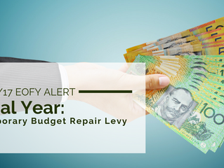 2016/17 EOFY Alert: Temporary Budget Repair Levy