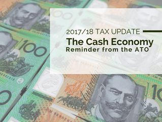 2017/18 Tax Update: The Cash Economy - Reminder from the ATO