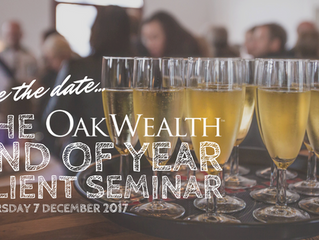 SAVE THE DATE: OakWealth's End of Year Client Seminar