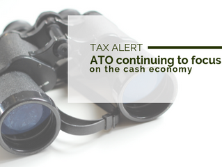 Tax Alert: ATO continuing to focus on the cash economy
