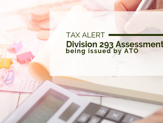 Tax Alert: Division 293 Assessments