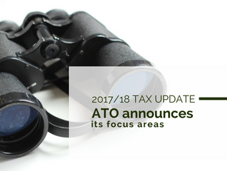 2017/18 Tax Update: ATO announces its focus areas