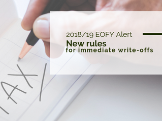 EOFY Small Business Alert: New rules for immediate write-offs
