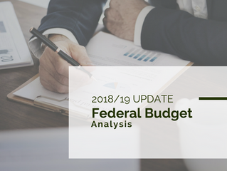 2018 Federal Budget Update