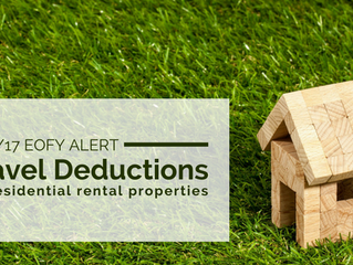 2016/17 EOFY Alert: Travel Deductions for Residential Rental Properties