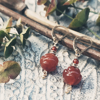 Carnelian Gemstone Earrings