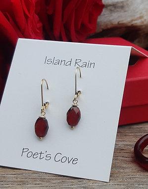 poet's cove - garnet earrings