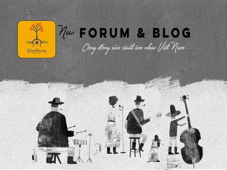 New Forum & Blog | Cộng đồng sản xuất âm nhạc Việt Nam
