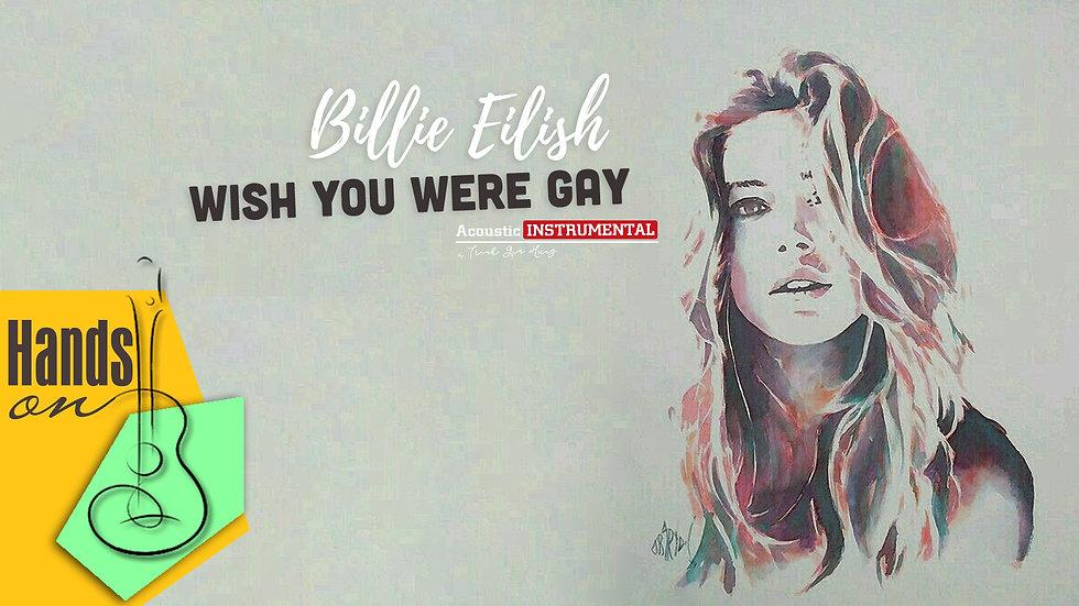 Wish You Were Gay » Billie Eilish ✎ acoustic Instrumental  by Trịnh Gia Hưng