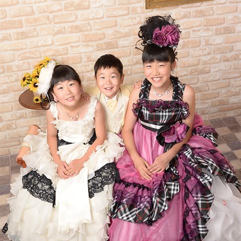 夏の写真展 姉弟ドレス